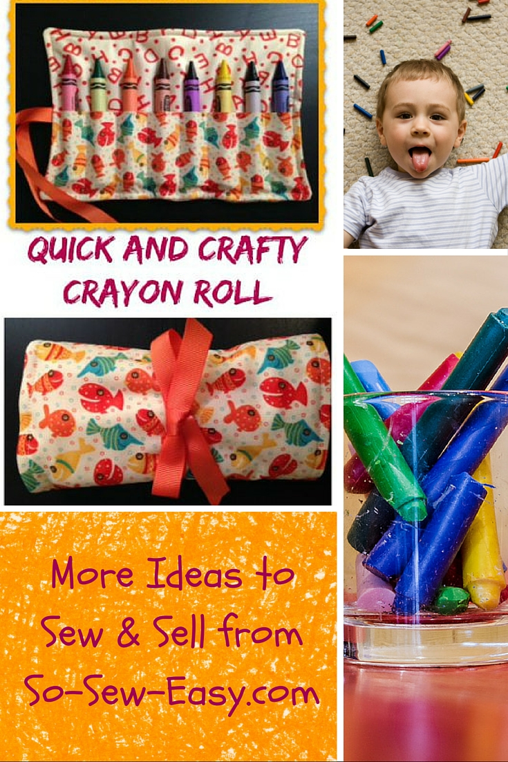 The Crafty Crayon Roll Up: A Perfect Beginner Project – So Sew Easy