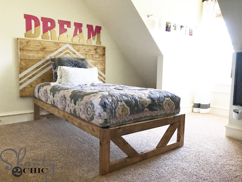 DIY Modern Platform Bed – Free Plans & How-To Video – Shanty 2 Chic