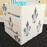 Easy Magazine Storage: how to paint a pretty wooden crate! – Pet Scribbles