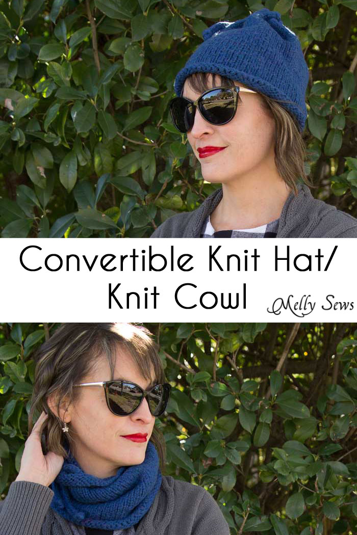 Convertible Knit Hat/Knit Cowl – Melly Sews