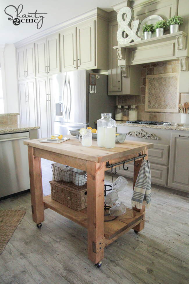 DIY Kitchen Island FREE Plans!