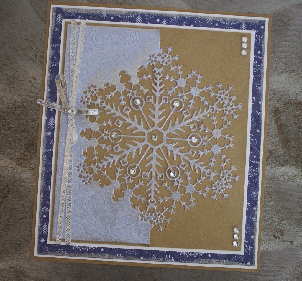 Creating with Couture: Snowflake Edger Card – Create & Craft Blog