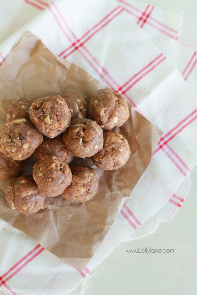 Healthy snack: almond date ball recipe – Lolly Jane
