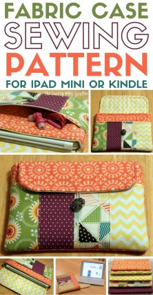 Fabric Case Sewing Pattern for iPad Mini or Kindle – The Crafty Blog Stalker