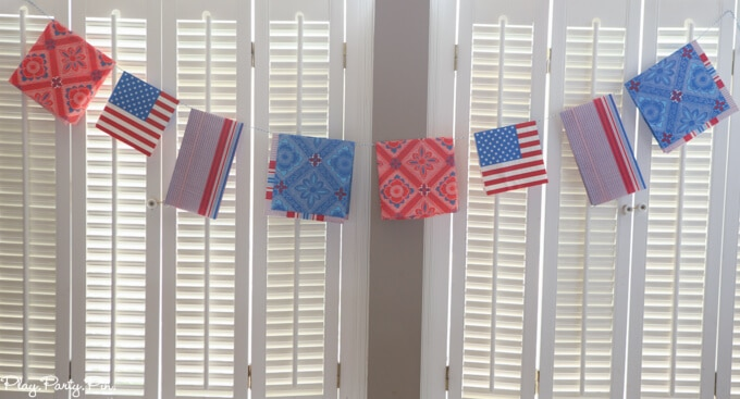 Red, White, and Blue Napkin Garland – Sugar Bee Crafts