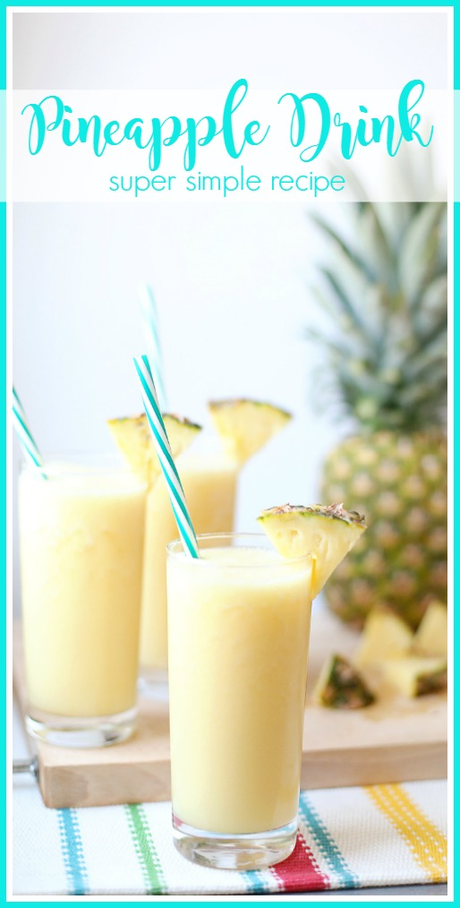 Simple Pineapple Drink (with GIVEAWAY!) – Sugar Bee Crafts