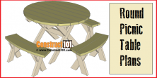 Round Picnic Table Plans – Step-By-Step