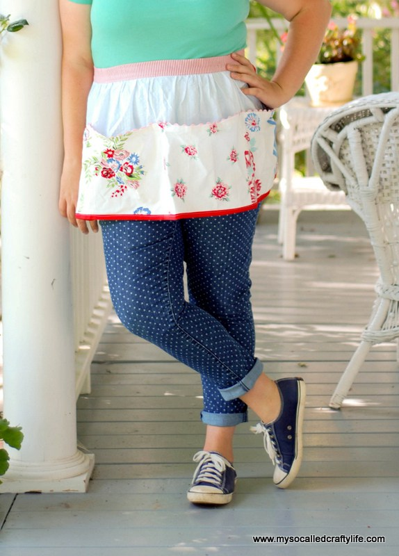 DIY Upcycled Vintage Tablecloth Apron