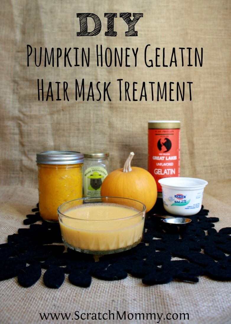 DIY Pumpkin Honey Gelatin Hair Mask Treatment | Pronounce | Scratch Mommy