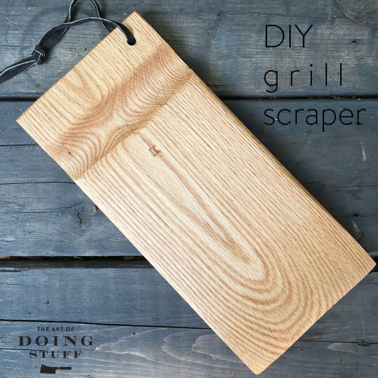 DIY a BBQ grill brush out of a piece of wood.The Art of Doing Stuff