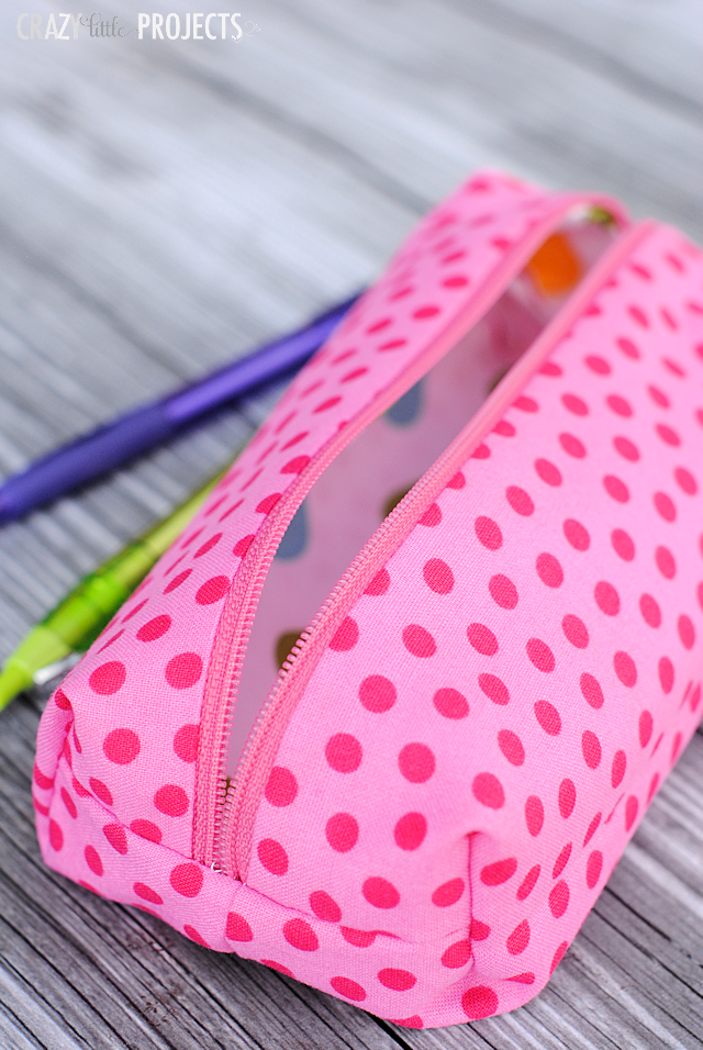 Cute Pencil Case Pattern – Crazy Little Projects